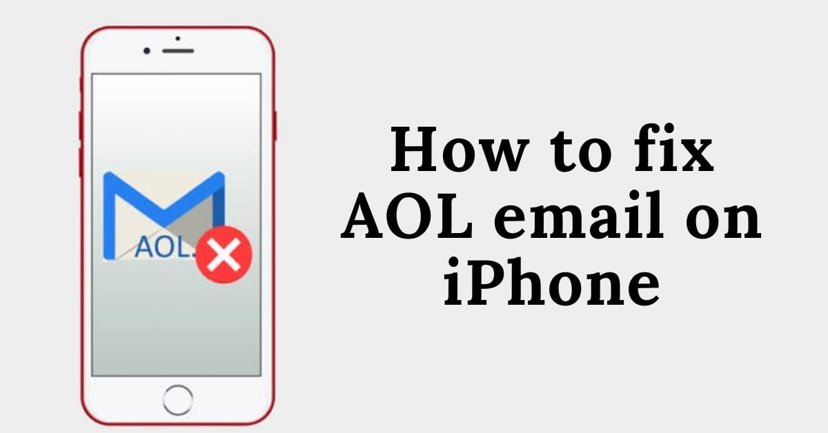 How to add AOL email on iphone
